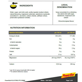 PowerBar Electrolyte Drink 1l Lemongras-Citrus